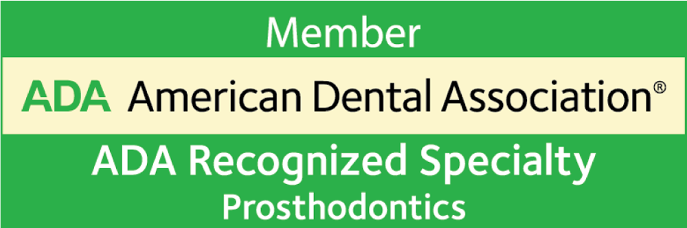 American Dental Association Member Recognized Specialty Prosthodontics logo